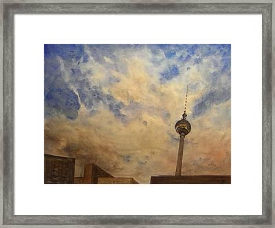 Berliner Sky Framed Print by Juan  Bosco