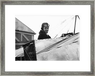 Bernetta Miller, Us Aviator Framed Print by Science Photo Library