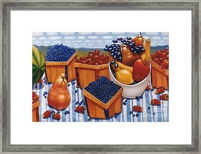 Berries And Fruit 1997  Skewed Perspective Series 1991 - 2000 Framed Print by Larry Preston