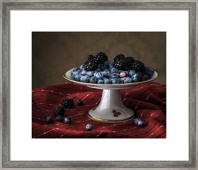 Berries In Soft Light Framed Print by James Barber