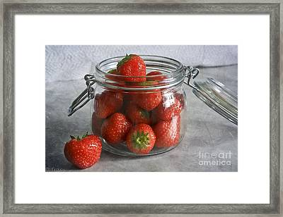 Berry Strawberries Framed Print by Tracy  Hall