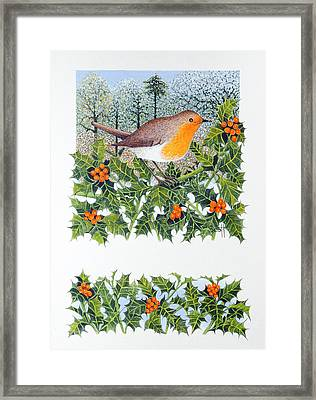 Berrying  Framed Print by Pat Scott
