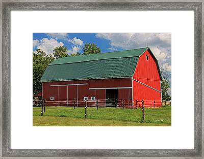 Bertch Barn - Monroe Indiana - Adams County Framed Print by Suzanne Gaff
