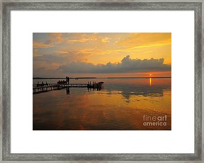 Beside Still Waters Framed Print by Terri Gostola