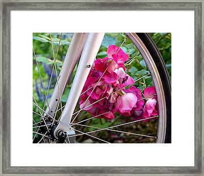 Bespoke Flower Arrangement Framed Print by Rona Black