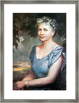 Bess Truman, First Lady Framed Print by Science Source