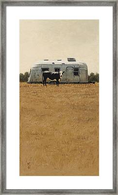 Bessie Wants To Travel Framed Print by Ron Crabb