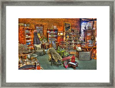 Best Antique Store On The Planet In Greensboro Framed Print by Reid Callaway