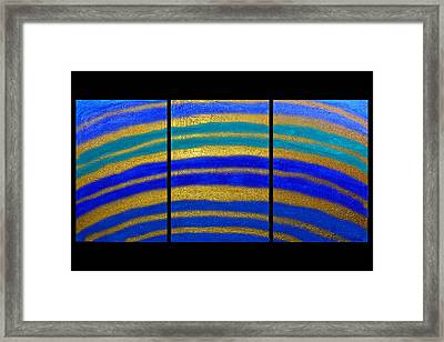 Best Art Choice Award Original Abstract Oil Painting Modern Blue Contemporary House Deco Gallery Framed Print by Emma Lambert