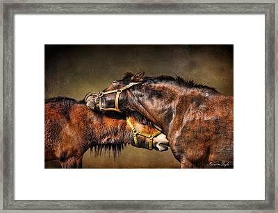 Best Friends Forever Framed Print by Karen Slagle