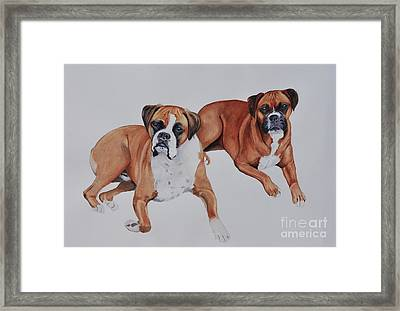 Best Friends Framed Print by John W Walker