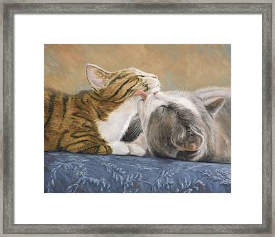 Best Friends Framed Print by Lucie Bilodeau