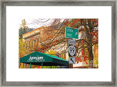 Best Little Town In Oregon Framed Print by Kris Hiemstra