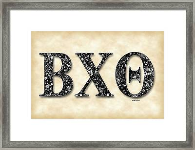 Beta Chi Theta - Parchment Framed Print by Stephen Younts
