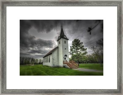 Bethany Prairie Church Framed Print by David Foster