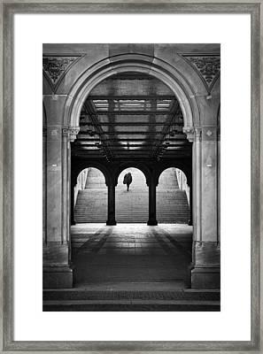 Bethesda Underpass At Central Park In New York City Framed Print by Ilker Goksen