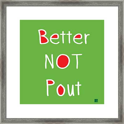 Better Not Pout - Square Framed Print by Linda Woods