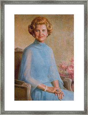Betty Ford, First Lady Framed Print by Science Source
