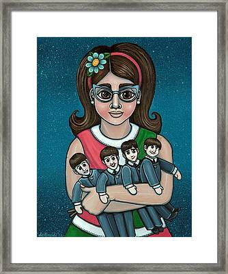 Betty Jeans Beatles Framed Print by Victoria De Almeida