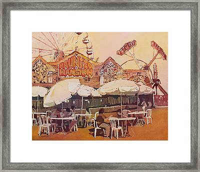 Between Amusements Framed Print by Jenny Armitage