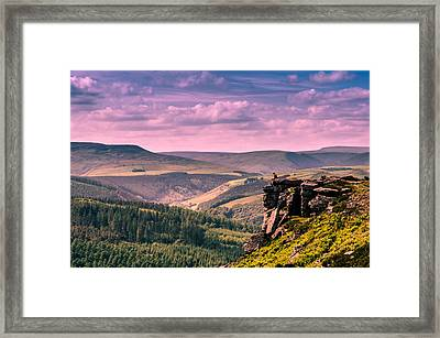 Between Heaven And Earth Framed Print by Anastasia E
