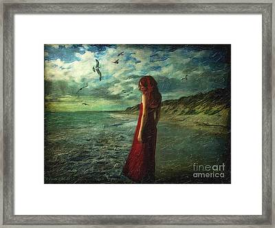 Between Sea And Shore Framed Print by Lianne Schneider