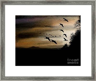 Between Sparta And Tomah 2 Framed Print by R Kyllo
