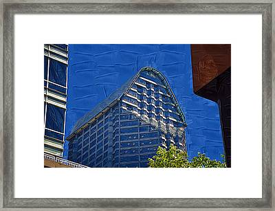 Between The Buildings Framed Print by Kirt Tisdale