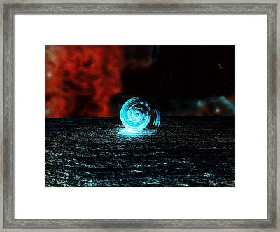 Between The Flame And The Sea Framed Print by Zinvolle Art
