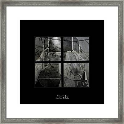 Between The Frames Framed Print by Barbara St Jean