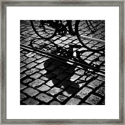 Between The Lines Framed Print by Dave Bowman