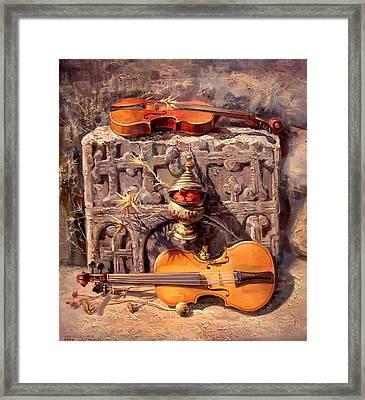 Between Two Fires Framed Print by Meruzhan Khachatryan