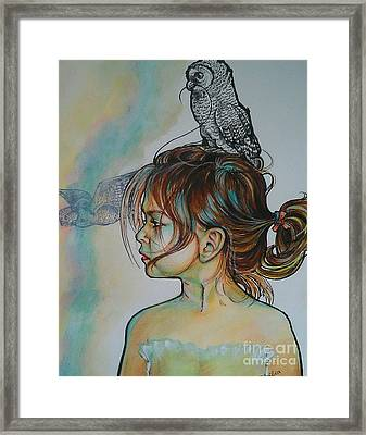 Between Two Parents Framed Print by Ottilia Zakany