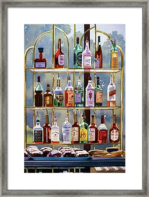 Beverly Hills Bottlescape Framed Print by Mary Helmreich