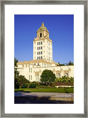 Beverly Hills Police Station Framed Print by Paul Velgos