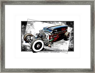 Beware Rat On Duty Framed Print by Chad Poore