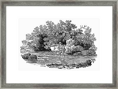 Bewick Fishing, C1800 Framed Print by Granger