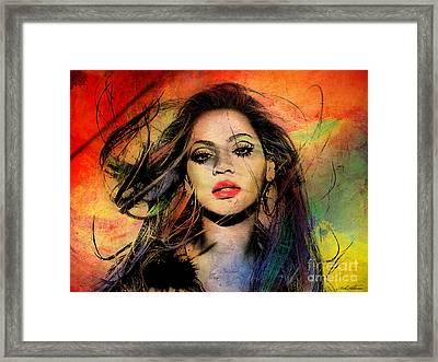 Beyonce Framed Print by Mark Ashkenazi