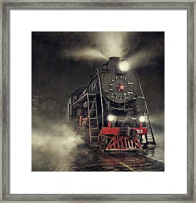 Beyond Express Framed Print by Dmitry Laudin