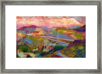 Beyond The City Framed Print by Athena Mantle