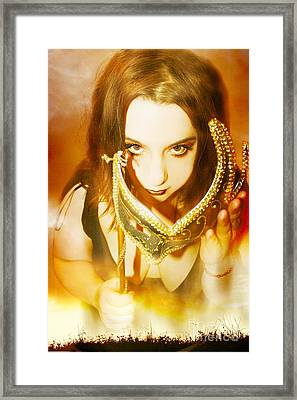 Beyond The Illusion Framed Print by Heather King