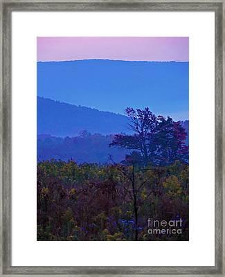 Beyond The Last Mountain Framed Print by Helene Guertin
