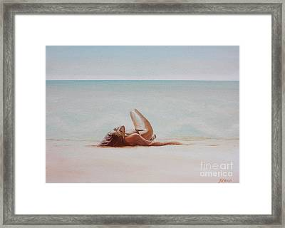 Beyond The Pale Framed Print by Yvonne Ayoub
