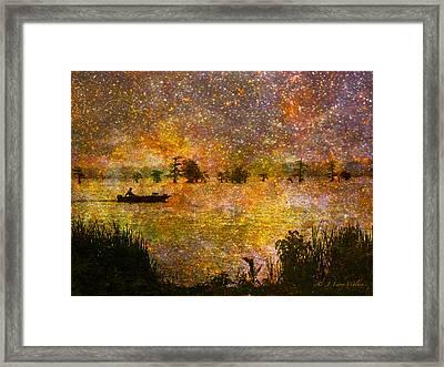 Beyond The Reeds Framed Print by J Larry Walker