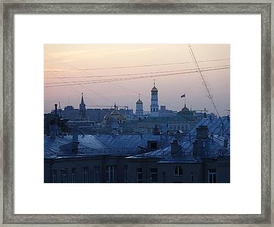 Beyond The Rooftops Framed Print by Anna Yurasovsky