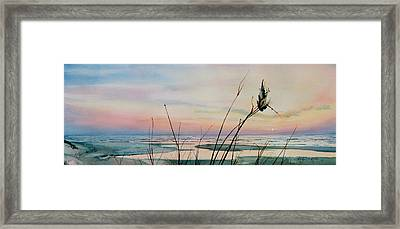 Beyond The Sand Framed Print by Hanne Lore Koehler