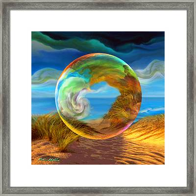 Beyond The Sea  Framed Print by Robin Moline