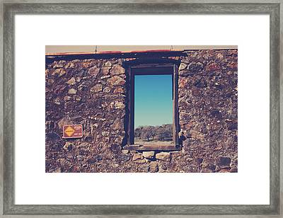 Beyond These Walls Framed Print by Laurie Search