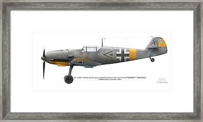 Bf109e-7 W.nr. 6095 Gruppenkommandeur I./lg2 Hptm. Herbert Ihlefeld. Barbarossa. 1941 Framed Print by Vladimir Kamsky