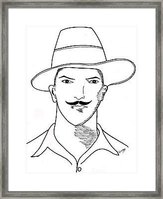 Bhagat Singh Framed Print by Vinay Jalla